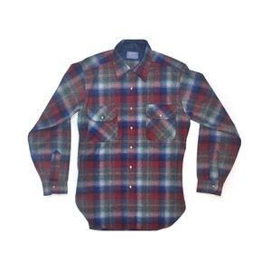 Pendleton Wool Long Sleeve Button Down Flannel